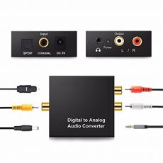 Digitál digitális analóg audio jel átalakitó konverter adapter +3,5 Jack kimenet