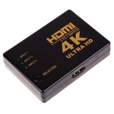 HDMI SWITCH  elosztó  4K * 2K 1080P HDMI Video Audio jelosztó 3 bemenet 1 kimenet