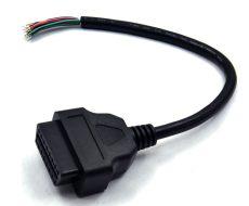 OBD2 16pin szerelhető kábel adapter