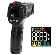 Digitális infra hőmérő lézeres szines kijelzővel riasztás opcio -50 +600°C ig mér