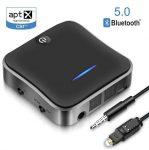 Bluetooth 5.0 audio adó vevő  Aptx HD adapter Optikai Toslink / 3,5 mm AUX