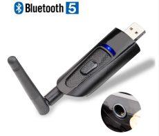 Bluetooth audió adó 5.0 dual band transmitter két eszköz csatlakoztatható tv hez