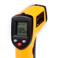 infravörös, digitális hőmérő, infra 400C-ig mér