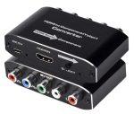 HDMI - YPbPr 5RCA RGB komponens átalakító adapter R / L audio kimenettel