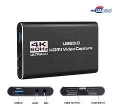 4K HDMI - USB 3.0 videó  digitalizáló kártya 1080P 60fps HD grabber streaming
