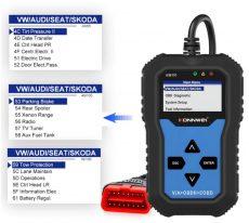 KW350 obd2 kézi autódiagnosztika vag VW -hez Audi -hoz Skoda diagnosztika
