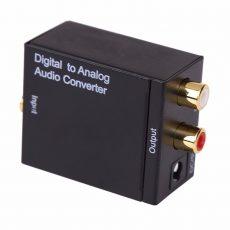 Digitál digitális analóg  audio jel átalakitó konverter adapter