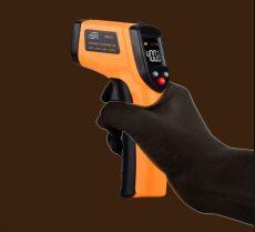 infravörös, digitális hőmérő, infra 533C-ig mér szines kijelző